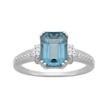 jcpenney.com | Genuine Topaz and Diamond-Accent 10K White Gold Ring