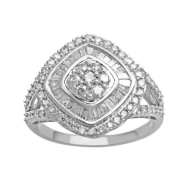 jcpenney.com | 1 CT. T.W. Diamond 10K White Gold Tilted Ring