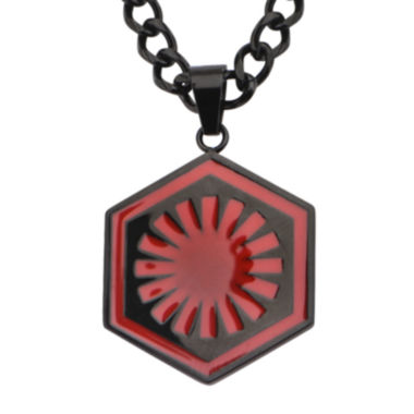 jcpenney.com | Star Wars® Episode VII First Order Mens Stainless Steel Logo Pendant Necklace