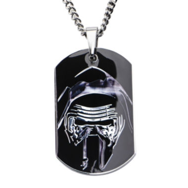 jcpenney.com | Star Wars® Episode VII Kylo Ren Mens Stainless Steel Dog Tag Pendant Necklace