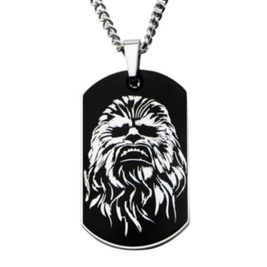 jcpenney.com | Star Wars® Chewbacca Mens Stainless Steel Dog Tag Pendant Necklace