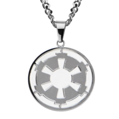 jcpenney.com | Star Wars® Death Star Symbol Mens Stainless Steel Pendant Necklace