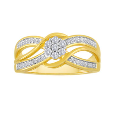 jcpenney.com | diamond blossom 1/4 CT. T.W. Diamond Bypass Ring