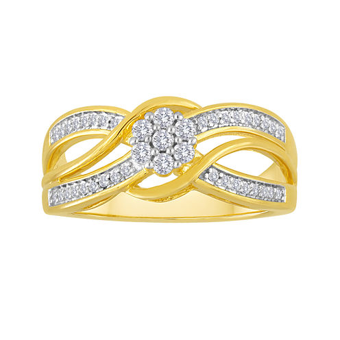 diamond blossom 1/4 CT. T.W. Diamond Bypass Ring