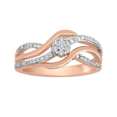 jcpenney.com | diamond blossom 1/10 CT. T.W. Diamond Bypass Ring