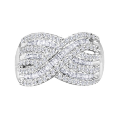 jcpenney.com | 3/4 CT. T.W. Diamond Sterling Silver Crossover Ring