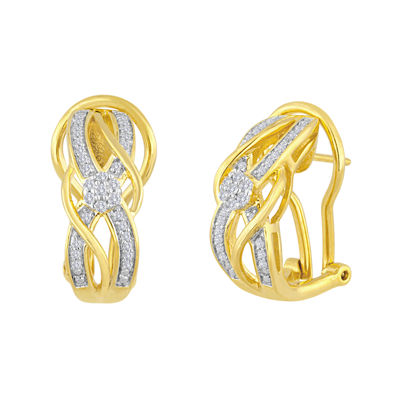 diamond blossom 1/4 CT. T.W. Diamond Bypass Earrings