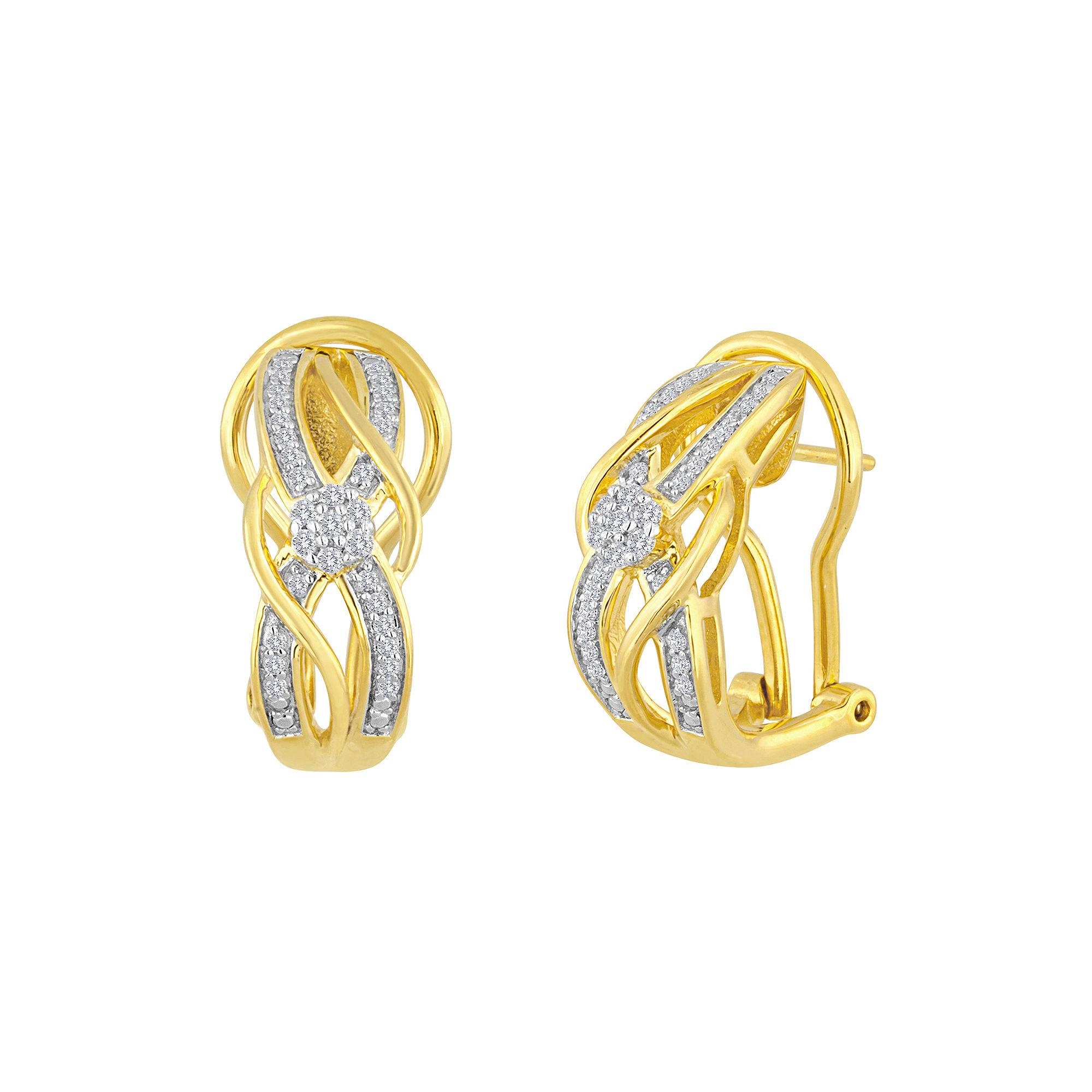 4 Ct Tw Diamond Bypass Earrings Jcpenney