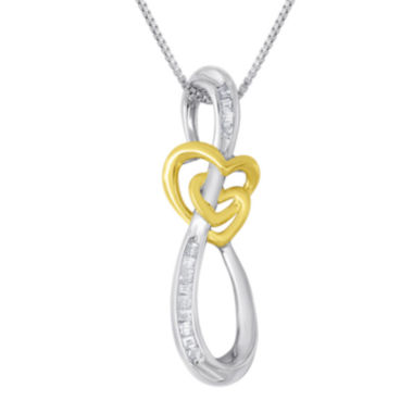 jcpenney.com | ForeverMine® 1/10 CT. T.W. Diamond Swirl Pendant Necklace