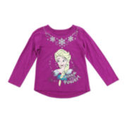 Disney Apparel by Okie Dokie® Long-Sleeve Frozen Tee - Toddler Girls 2t-5t