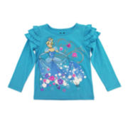 Disney by Okie Dokie® Cinderella Ruffle Tee - Toddler Girls 2t-5t