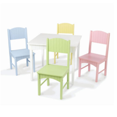 jcpenney.com | KidKraft® Nantucket Table and 4 Pastel Chairs Set