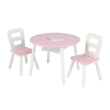 jcpenney.com | KidKraft® Storage Table and 2 Chairs Set - White and Pink