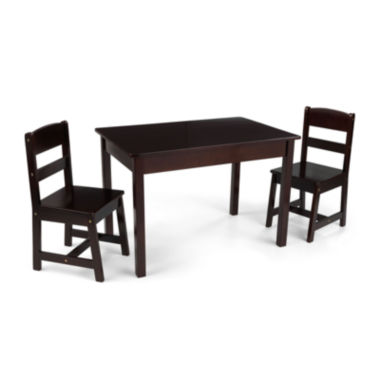 jcpenney.com | KidKraft® Avalon Rectangle Table and 2 Chairs Set - Espresso