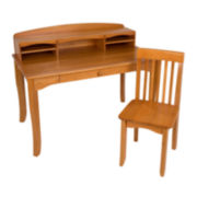 KidKraft® Avalon Desk with Hutch - Honey