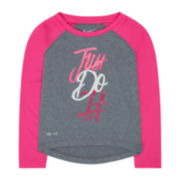 Nike® Dri-FIT Long-Sleeve Tee - Preschool Girls 4-6x