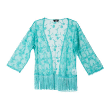 jcpenney.com | by&by Girl Fringe Lace Kimono - Girls 7-16
