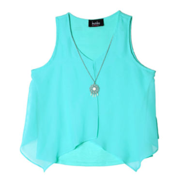jcpenney.com | by&by Girl Fly Away Top and Necklace - Girls 7-16