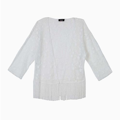 by&by Girl Fringe Lace Kimono - Girls 7-16