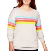 Arizona Long-Sleeve Pullover Tunic Sweater - Plus