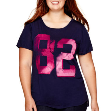 jcpenney.com | Arizona Short-Sleeve Graphic T-Shirt - Juniors Plus