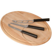 BergHOFF® Eclipse 4-pc. Cheese Knife and Cutting Board Set
