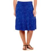 St. John's Bay® Tiered Knit Skirt - Plus