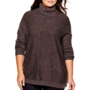 a.n.a® Long-Sleeve Cowlneck Poncho- Plus