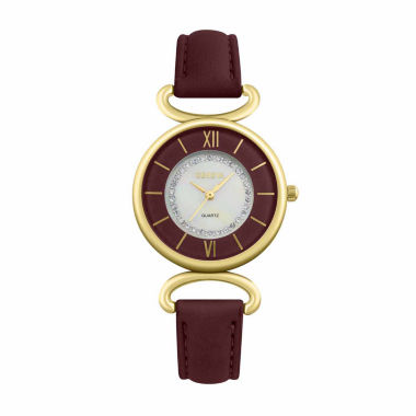 jcpenney.com | Geneva Womens Red Strap Watch-Pt1998gdwn