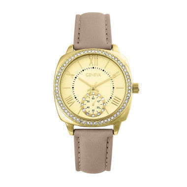 jcpenney.com | Geneva Womens Brown Strap Watch-Pt2517gdtn