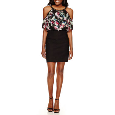 jcpenney.com | Nicole By Nicole Miller Short Sleeve Blouson Dress