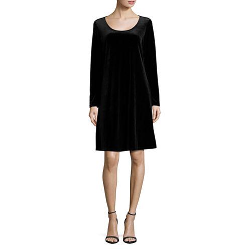 Jump Apparel Long Sleeve Sheath Dress-Talls