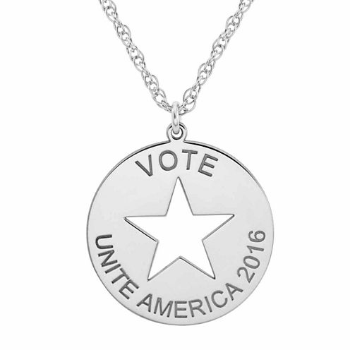 Political Logo Pendant Necklace