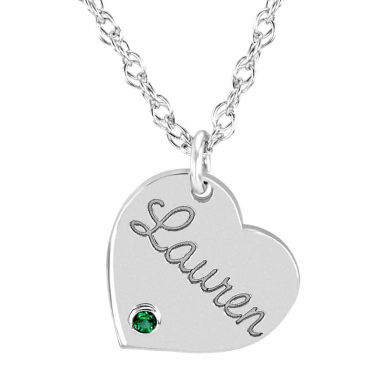 jcpenney.com | Personalized Birthstone Name Heart Pendant Necklace