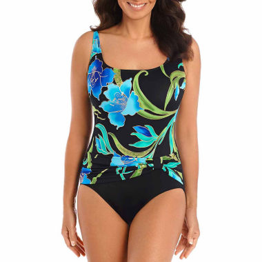jcpenney.com | Robby Len By Longitude Solid One Piece Swimsuit