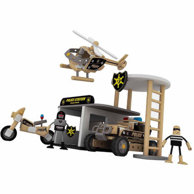 jcpenney.com | Classic Toy 133 Piece Wood Police Station With Accessories