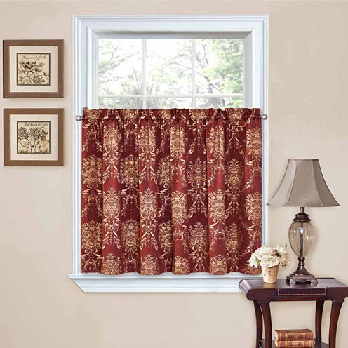 Waverly® Rose Momento 2-Pack Rod-Pocket Window Tiers