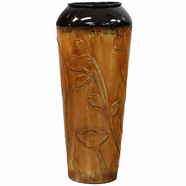 "jcpenney.com | 24"" Orange Metal Cylinder Vase"