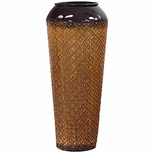 """24"""" Gold Metal Cylinder Vase"""