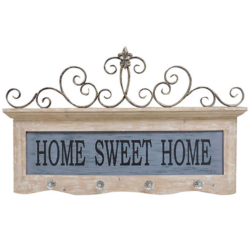 Home Sweet Home Hooks Wall Decor