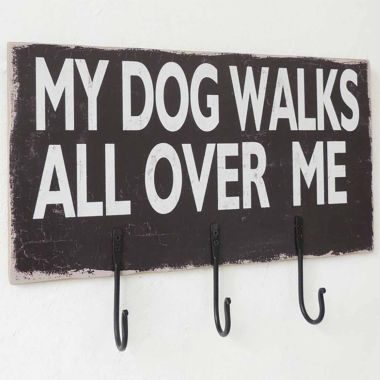 jcpenney.com | Dog Sign With Hooks Wall Decor