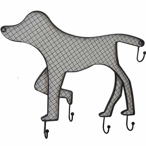 Dog With Hooks Wall Decor