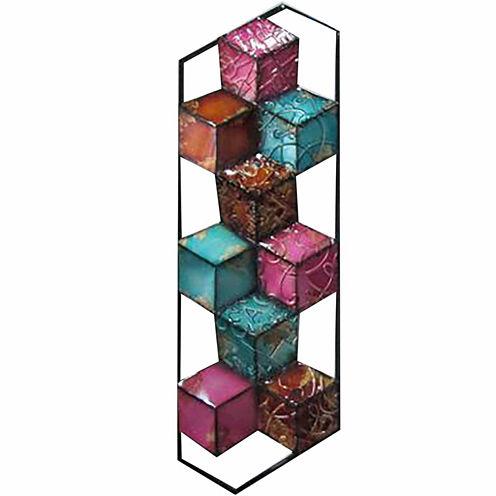 Multi Cubes Left Wall Decor