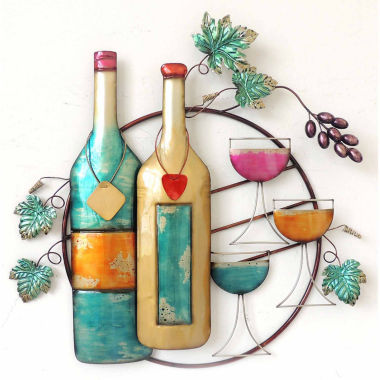 jcpenney.com | Wine Bottle Glass Wall Decor
