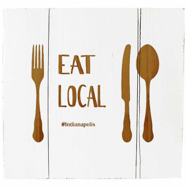 jcpenney.com | Cathy's Concepts Personalized Eat Local White Rustic Wooden Wall Art