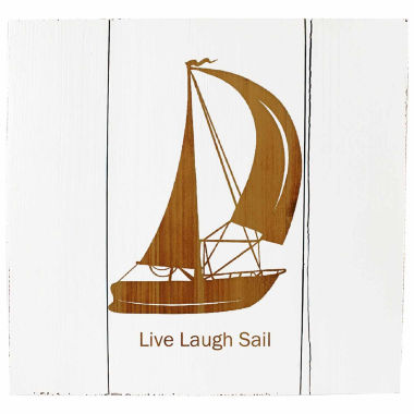 jcpenney.com | Cathy's Concepts Personalized White Rustic Sailboat Wooden Wall Art