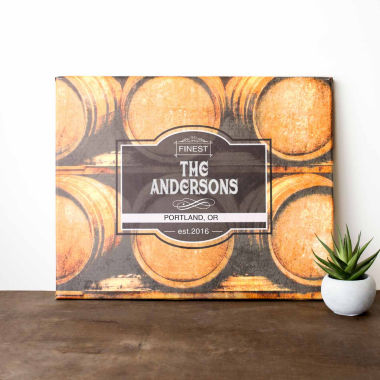 jcpenney.com | Cathy's Concepts Personalized Whiskey Barrel Canvas