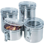 4-pc. Stainless Steel Canister Set