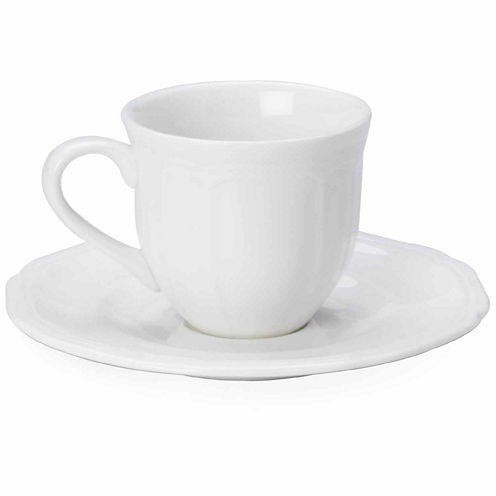 Mikasa Antique White 2-pc. Cup and Saucer Set