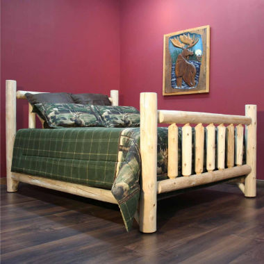 jcpenney.com | Cedar Log Low Post Bed